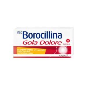 NeoBorocillina Gola Dolore 16 pastiglie Miele e Limone