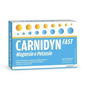 Carnidyn Fast Magnesio e Potassio 20 bustine da 6g