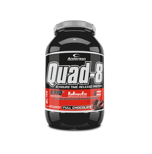 Anderson Quad-8.0 Full Chocolate Proteine a Lento Rilascio 800g polvere