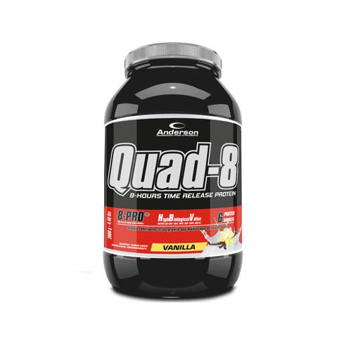 Anderson Quad-8.0 Vanilla Proteine a Lento Rilascio 800g polvere