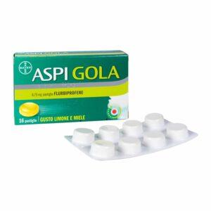 Bayer Aspi Gola Mal di Gola 16 Pastiglie Flurbiprofene 8,75mg