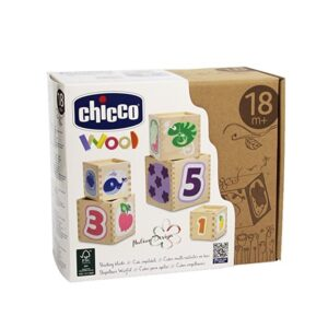 Chicco Set Cubi Impilabili Linea Wood 18m+