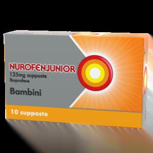 Nurofenjunior Bambini 125mg Ibuprofene 10 Supposte