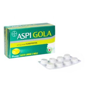 Bayer Aspi Gola Mal di Gola 24 Pastiglie Flurbiprofene 8,75mg