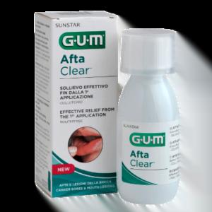 Gum Afta Clear Collutorio Afte e Lesioni Bocca 120ml