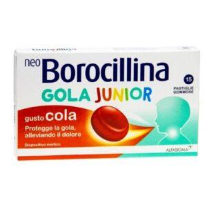 NeoBorocillina Protezione Gola Junior 15 Pastiglie Gommose Gusto Cola
