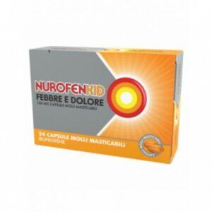 NurofenKid Febbre e Dolore 100mg Ibuprofene 24cpr Masticabili