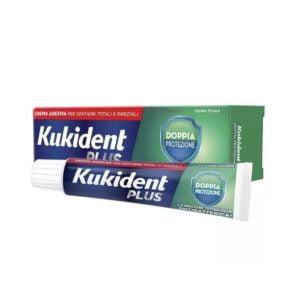 Kukident Plus Doppia Protezione Crema Adesiva Dentiera 40g