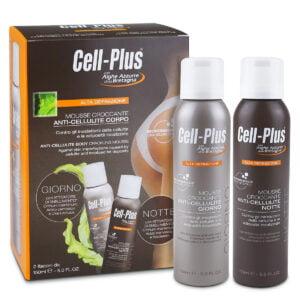 Cell-Plus Alta Definizione Mousse Croccante Anti Cellulite Corpo Giorno e Notte 2fl da 150ml