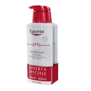 Eucerin pH5 Detergente Fluido Pelle Sensibile 2 x 400ml