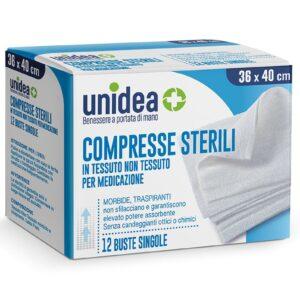 Unidea Compresse di Garza Sterili in Tessuto non Tessuto 36 x 40cm 12pz