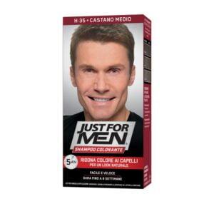 Just For Men Shampoo Colorante H35 Castano Medio
